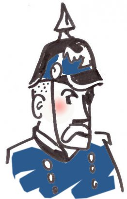 Constable with spiked helmet